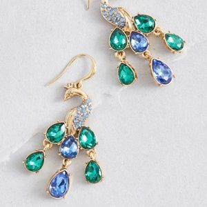 Modcloth Presented With Pride Peacock Earrings